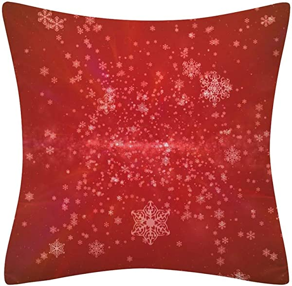 Tigivemen Christmas Throw Cushion Cover Home Decor Throw Pillow Covers Cotton Linen Throw Pillow Case Sofa Waist