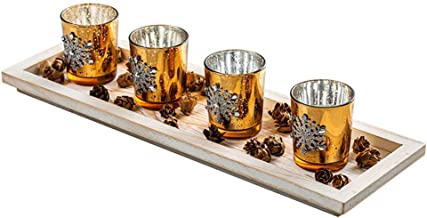 Candle Holders Set - Pack of 4 Candlestick Perfect for Parties, Wedding, Special Events Valentine's Day Birthday Surprises...