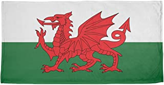 Old Glory Welsh Flag All Over Beach Towel