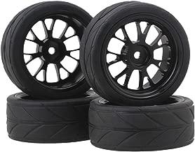 BQLZR Y Shape Hub Wheel Rim&Tires HSP 1:10 On-Road RC Flat Racing Car 20106 Pack of 4