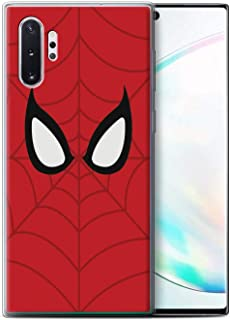 eSwish Gel TPU Phone Case/Cover for Samsung Galaxy Note 10+/Plus/5G / Spider-Man Mask Inspired Design/Super Hero Comic Art Collection