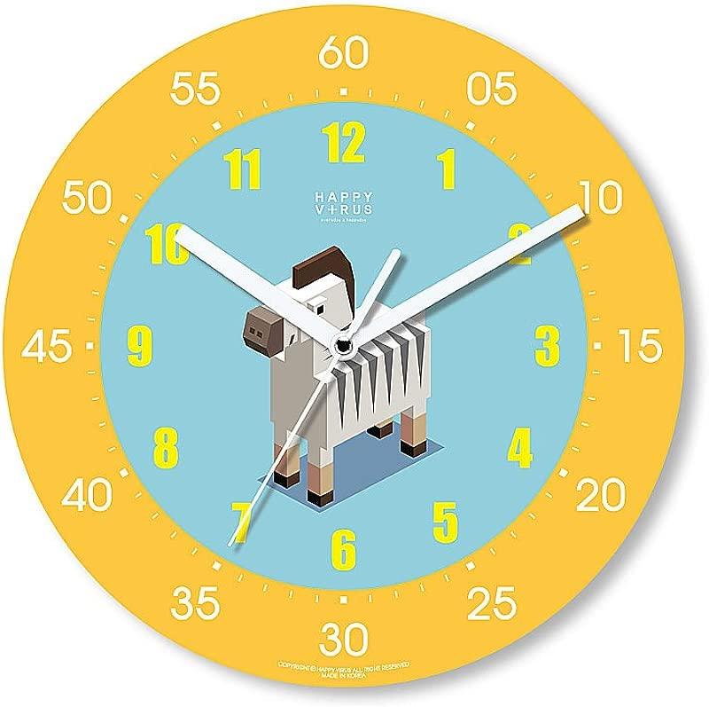 HappyVirus 11 22 Educational Wall Clock Children S Time Telling Teacher Silent Non Ticking Home Decoration Zebra 2032