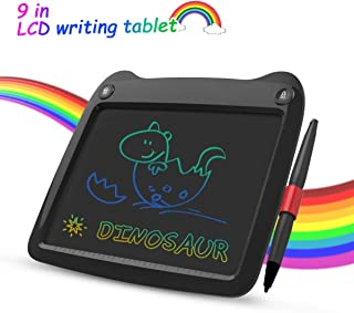 LCD Writing Tablet, 9 Inch Colorful Toddler Doodle Board Drawing Tablet, Erasable Reusable Electronic Drawing Pads, Educational and Learning Toy for 2-6 Years Old Boy and Girls (Black)