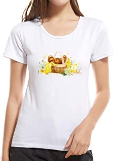 Summerout Womens Tops Ladies Casual Fashion Creative Print Short-Sleeved T-Shirt Parent-Child Mother
