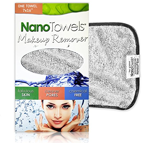 Nano Towel Makeup Remover Face Wash Cloth. Remove Cosmetics FAST and Chemical Free. Wipes Away...