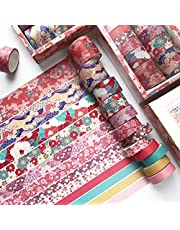 Vilihkc Washi Tape Set of 12 Rolls Decorative Washi Masking Tape Sets for Craft Kids Scrapbook Bullet Journal DIY Gift Wrapping