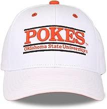 The Game NCAA Oklahoma State Cowboys Unisex NCAA bar Design Hat Cowboys, White, Adjustable