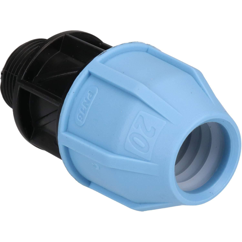 Adaptador para tubos de PE MDPE adaptador para tubos de agua de polietileno difusores de agua de 25 mm a 20 mm