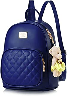 TYPIFY® PU Leather Teddy Keychain Korean Style Women Backpack