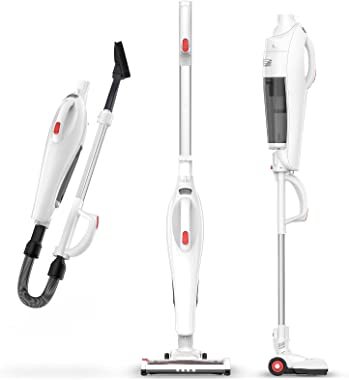Cordless Vacuum Cleaner, 6 in 1 Stick Vacuum with 17Kpa Powerful Suction, Lightweight Upright Vacuum Cleaner with Multi-attac