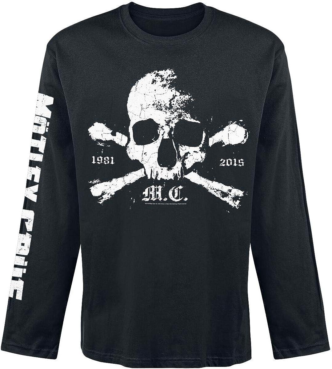 M/ötley Cr/üe Bad Boys Frauen T-Shirt grau//schwarz Band-Merch Bands