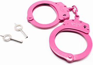 CampCo Uzi Uzi-HC-C-Pink High Tensile Steel Handcuffs with Two Keys, Pink