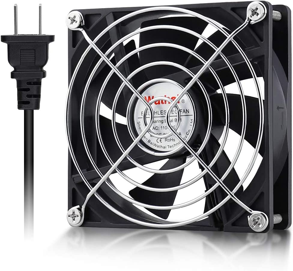 Wathai EC 90mm x 25mm Ball AC Axial Cooling Fan 110V 115V 120V 220V 240V Industrial Case Fan
