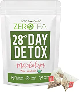Zero Tea Detox Tea, 28+2 Day Weight Loss Tea for Women&Men, Diet Herbal Tea for Colon Cleanse, GPGP GREENPEOPLE Skinny fit...
