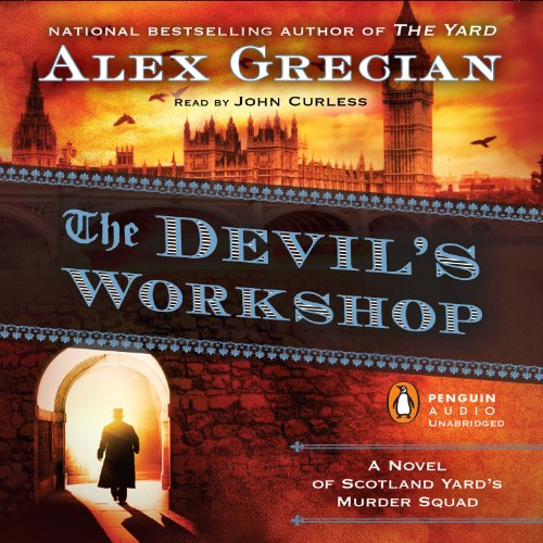 The Devil's Workshop     Scotland Yard's Murder Squad, Book 3              Written by:                                                                                                                                 Alex Grecian                               Narrated by:                                                                                                                                 John Curless                      Length: 9 hrs and 35 mins     3 ratings     Overall 5.0