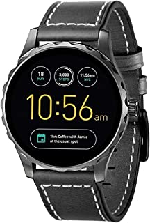 Kartice Compatible with Fossil Gen 5 Q Explorist HR Band 22mm Fossil Gen 4 Bands Gen 3 Leather Band for Fossil Q Marshal Gen SmartWatch (Black)