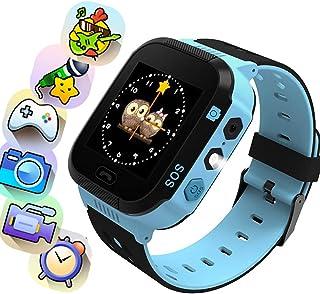 Openuye Smartwatch Niños, 2G Reloj Inteligente Niños con Flashlight, SOS, LBS, Comunicación Bidireccional Cámara Chat de V...