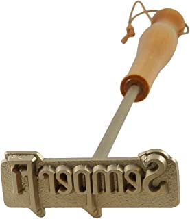 Indiana Metal Craft US Marine Corps Semper Fi Solid Brass Logo Meat Branding Iron