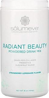 Solumeve Radiant Beauty, Grass-Fed Collagen, Probiotics & Superfruits Powdered Drink Mix, Strawberry Lemonade, 16 oz (454 g)