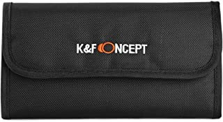 K&F Concept Bolsa de Filtros Funda para 6 Filtro Bolsa con 6 Bolsillos Funda Caso para Filtros de Cámara Canon Nikon Sony etc