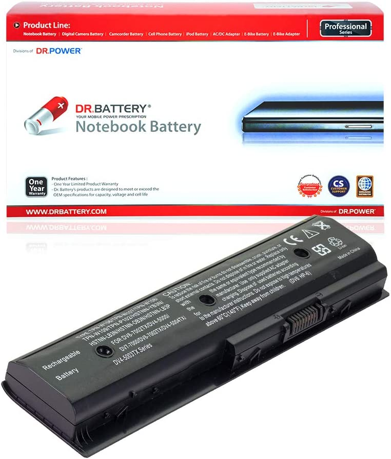 DR. BATTERY MO06 MO09 Battery Compatible with HP Envy M6-1045DX M6-1035DX M6-1125DX Pavilion DV4-5000 DV6-7000 DV6-7014nr DV7-7000 DV7t-7000 671731-001[10.8V/4400mAh/48Wh]