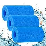 Éponge Filtrante,Mousse pour Filtre,3 Pièces Éponge Filtrante Type A,Eponge Aquarium Filtre 200*100mm,Filtre Reutilisable SPA,Mousse pour Filtre Bassin Piscine ,Filtre Piscine Lavable Reutilisable