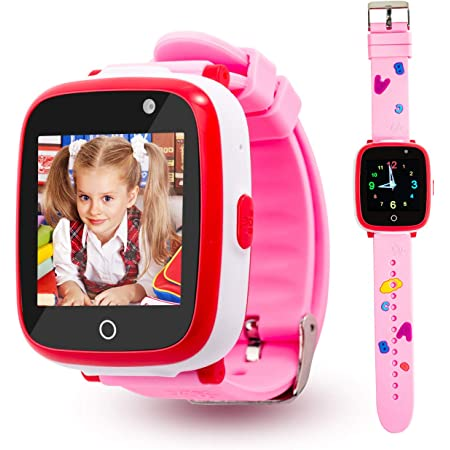 Kids Smart Watch for Girls, Dual Camera Smart Watch for Kids Touch Screen Toddler Watch with Games, Call SOS, Music Player, Alarm Clock, Christmas Birthday Gift Toys for 3-10 Year Old Girls