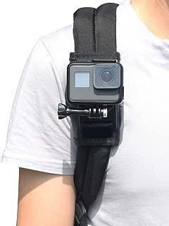 バックパックマウント+1/4ネジ アクションカメラ用マウント 360回転式 ショルダーマウント 肩部用 カメラ用 GoPro Hero7/6/5/4/3/2 session, Xiaomi Yi,SJCAMなどに対応