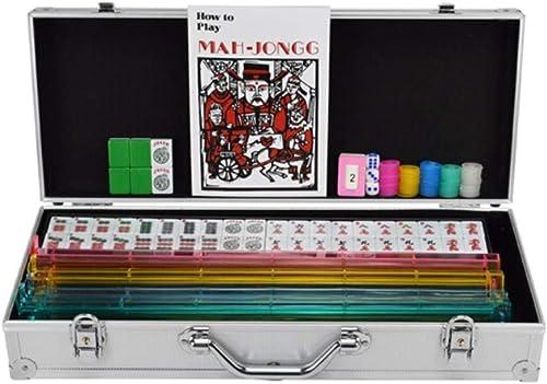 HongTeng Melamin Mahjong Qualität MultiFarbe Casual Lernspielzeug Kreative Familie Unterhaltung Aktivit n Aluminium Mahjong Aufbewahrungsbox mit AnWeißngen (Farbe   Grün)
