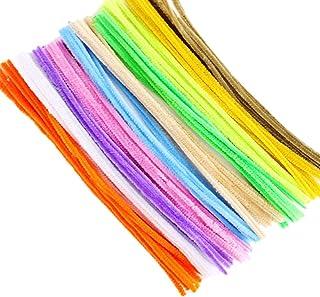 KIICN 100 peças de limpadores de cachimbo de cores aleatórias, hastes de chenille para projetos de artes e decorações de a...