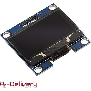AZDelivery 128 x 64 Pixel 1,3 Zoll OLED I2C Display kompatibel mit Arduino und Raspberry Pi inklusive E-Book!