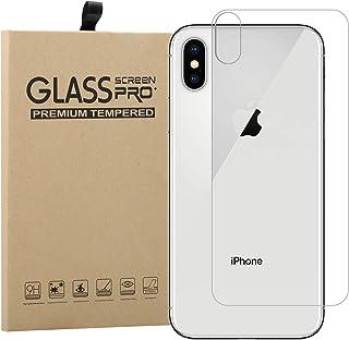 a8106b66ce0 Protector Trasero para iPhone X + Lente Protector de Pantalla, EUGO Ultra  Delgado 9H Tempered