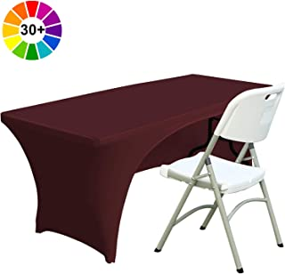 ABCCANOPY Spandex Table Cover 6 ft. Fitted 30+ Colors Polyester Tablecloth Stretch Spandex Table Cover-Table Toppers