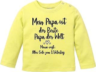 EZYshirt/® Alles Gute zum 1 Vatertagsgeschenk T-Shirt Langarm Baby Bio Baumwolle Vatertag