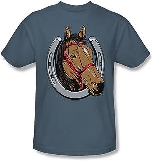 Trevco Men's Luck Horse Short Sleeve T-Shirt
