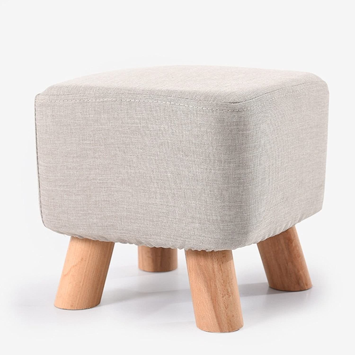 shoes shoes   Fashion Square Stool   Solid Wood Stool   Sofa Stool   Square Stool Square Pier 28  28  26cm ( color   B )