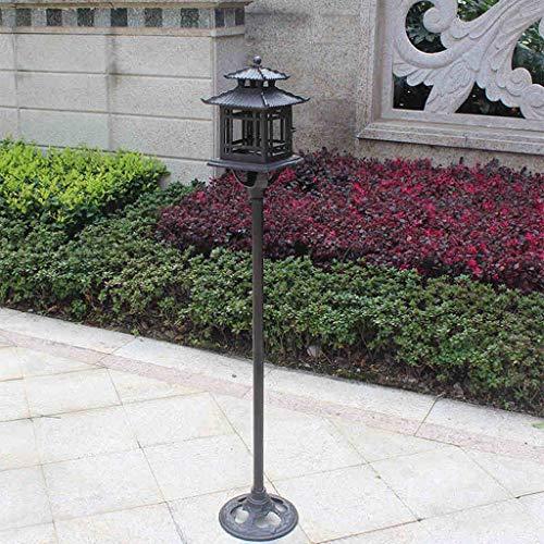 QARYYQ Paal Kandelaar Retro Gietijzeren Binnenplaats Kandelaar Thuis Tuin Decoratie Ornamenten 23x116x16cm wierookbrander
