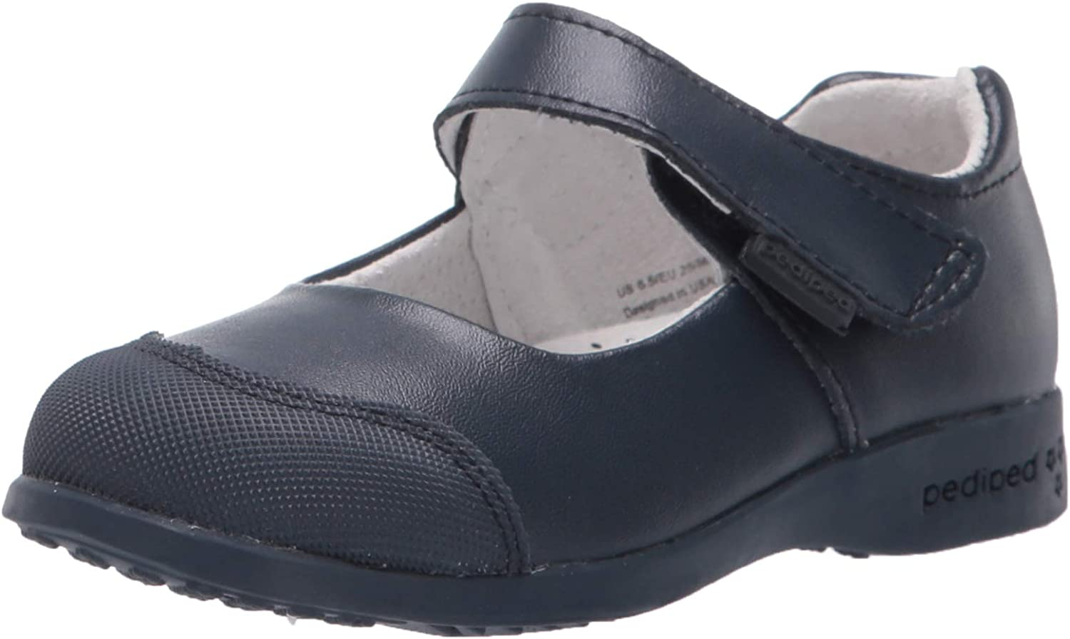 pediped Girl's Becky Mary Jane Flat EU Child Navy 33 low-pricing Kid lowest price Big