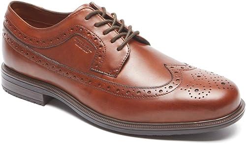 Rockport Men's Essential Details II Wing Tip Oxford,Tan Antique Leather,US 16 M