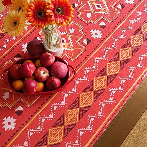 Creek Ywh placemats en servetten, tafelloper voor feestjes en verjaardagen, tafelkleed, stof van katoen en linnen, digitale verdikking, tafel om te bedrukken, woonkamer