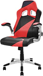 Giantex Executive Racing Chair PU Leather Bucket Seat Gaming Chair Desk Task Computer, Red