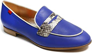 Genuine Leather Made in Brazil Womens Bryant Park 2.0 Loafer, Royal Nappa Soft/Viper, 6.5 US