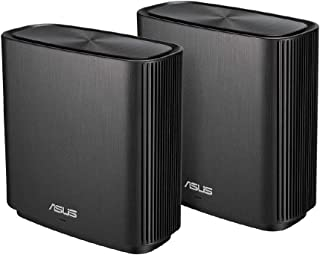 ASUS WiFi 無線 ルーター 867+1734+400Mbpsトライバンドメッシュ ZenWiFi AC (CT8)(黒) 2 パック 【最大 502㎡ 4部屋以上 】【PS5/Nintendo Switch/iPhone/android...
