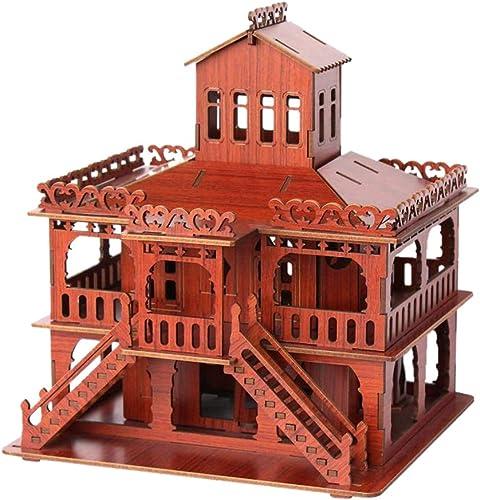 LSQR DIY 3D European Noble Villa Model handgemachte Puzzle, dreidimensionale Jigsage-Tyts, Kindergeburtstag