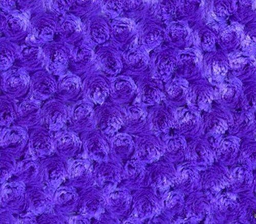 Minky Fabric Rosebud 58' Wide Sold by The Yard (Purple)