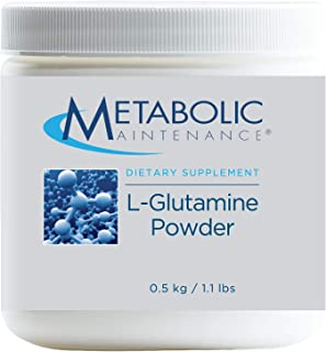 Metabolic Maintenance L-Glutamine Powder - 1000mg Pure Amino Acid Supplement, Easy Drink Add-In - Support for Gut + Intest...