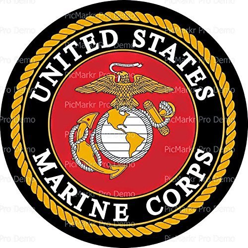 1/4 Sheet Cake - United States Marine Corps Emblem - Edible Cake or Cupcake Topper - D10082 by DecoPac