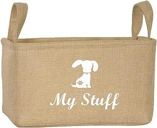 Geyecete Canvas Dog Toy Basket Basket for Dog Toys, Dog Blanket, Dog Clothes Storage - 30cms (12in) x 20cms (8in) x 20cms (8in)