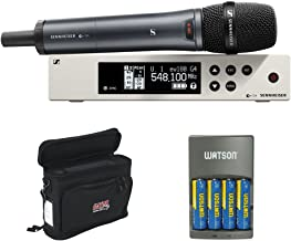 Sennheiser ew 100-835 G4-S Wireless Handheld Microphone System with GM-1W Wireless Mobile Pack and Rapid Charger with 4 AA Battery
