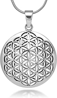 flower of life necklace silver